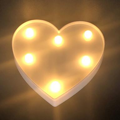 عطلة زينة عيد الحب كائنات ديكور ديكور / كوول أبيض 1PC