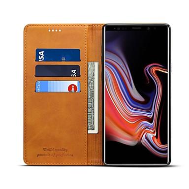 Maska Pentru Samsung Galaxy Note 9 / Note 8 Portofel / Titluar Card / Anti Șoc Carcasă Telefon Mată Greu PU piele