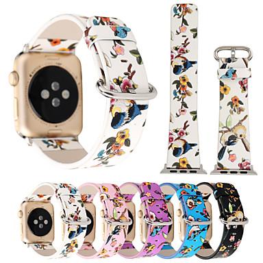 Недорогие Аксессуары для смарт-часов-Ремешок для часов для Apple Watch Series 4/3/2/1 Apple Кожаный ремешок Кожа / Стеганная ПУ кожа Повязка на запястье