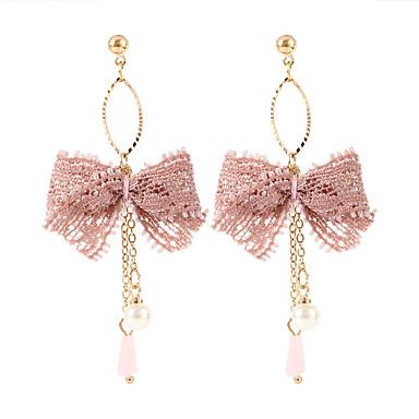 Dame Kvast Dråbeøreringe Blonde Øreringe Sløjfe Damer Koreansk Sød Mode Smykker Hvid / Sort / Lys pink Til Fest 1 Par