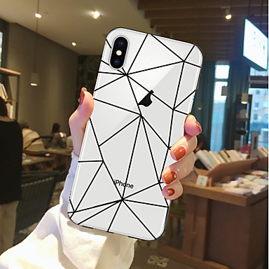 voordelige iPhone X hoesjes-hoesje Voor Apple iPhone X / iPhone 8 Plus / iPhone 8 Transparant / Patroon Achterkant Voedsel / Fruit Zacht TPU