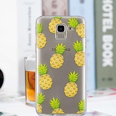 voordelige Galaxy J-serie hoesjes / covers-hoesje Voor Samsung Galaxy J7 (2017) / J6 / J5 (2017) Transparant / Patroon Achterkant Fruit Zacht TPU