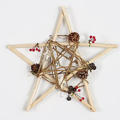 عيد الميلاد الحلي عطلة خشبي مربع خشبي زينة عيد الميلاد