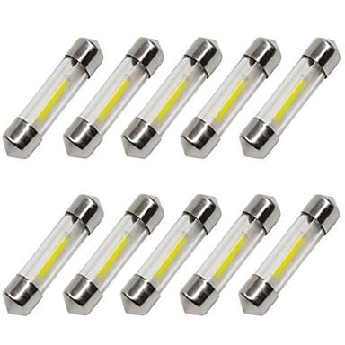 voordelige Autobinnenverlichting-10 stuks 36mm Automatisch Lampen 1 W COB 80 lm 1 LED Richtingaanwijzerlicht / Interior Lights Voor Universeel