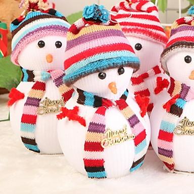 تماثيل الكريسمس / عيد الميلاد الحلي عطلة / كرتون نسيج القطن مربع حداثة زينة عيد الميلاد