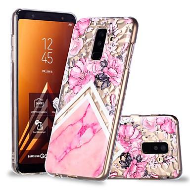 غطاء من أجل Samsung Galaxy A6 (2018) / A6+ (2018) / A8 2018 شفاف / نموذج غطاء خلفي زهور / حجر كريم ناعم TPU