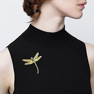 نسائي دبابيس كلاسيكي ستايل سيدات عطلة رومانسي بروش مجوهرات أخضر من أجل مناسب للعطلات المكتب & الوظيفة
