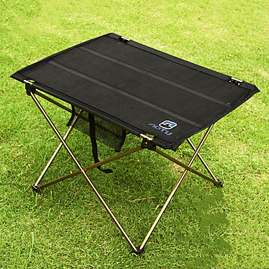 Camping Table with Side Pocket Portable Lightweight Ultra Light (UL)  Foldable Aluminium Alloy 7005 Oxford for 3 - 4 person Fishing Hiking Beach