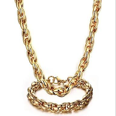 رجالي عقد ستايل خلاق سيدات موضة الصلب التيتانيوم الأقراط مجوهرات ذهبي من أجل مناسب للحفلات مناسب للبس اليومي