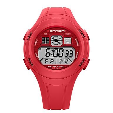 Χαμηλού Κόστους Ανδρικά ρολόγια-SANDA Ανδρικά Γυναικεία Αθλητικό Ρολόι Ψηφιακό ρολόι Ιαπωνικά Ψηφιακό σιλικόνη Μαύρο / Κόκκινο / Πράσινο 30 m Ανθεκτικό στο Νερό Ημερολόγιο Χρονόμετρο Ψηφιακό Κινούμενα σχέδια Μοντέρνα -
