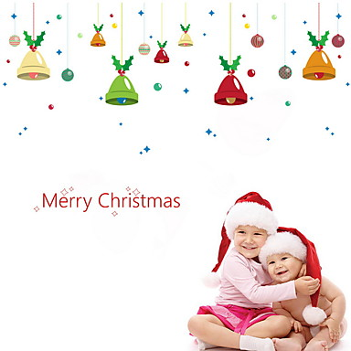 فيلم نافذة وملصقات زخرفة عيد الميلاد عطلة PVC لامعة / ملصق النافذة