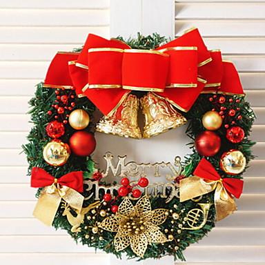 أكاليل / زخرفة عطلة بلاستيك دائري حداثة زينة عيد الميلاد