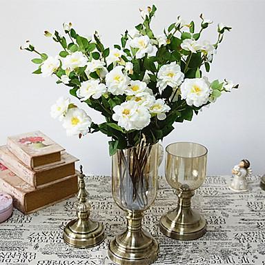 زهور اصطناعية 1 فرع كلاسيكي أنيق أوروبي Camellia أزهار الطاولة