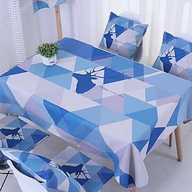 معاصر 100g / m2 البوليستر الإمتداد حك مربع قماش الطاولة هندسي الجدول ديكورات 1 pcs