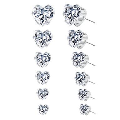 1e3ed7c14 cheap Earrings-Women's Cubic Zirconia Classic Stud Earrings Earrings  Heart Ladies