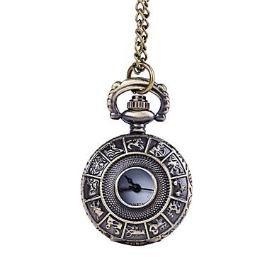 Недорогие Часы на металлическом ремешке-Муж. Карманные часы Кварцевый Нержавеющая сталь Бронза С гравировкой Аналоговый Винтаж - Бронзовый