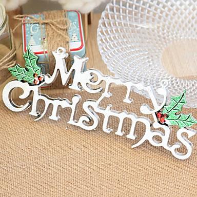 عيد الميلاد الحلي عطلة PVC مربع حداثة زينة عيد الميلاد