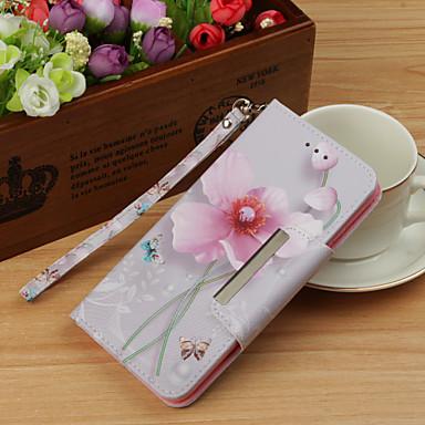 غطاء من أجل Samsung Galaxy S9 / S9 Plus / S8 Plus محفظة / مع حامل / قلب غطاء كامل للجسم زهور قاسي جلد PU