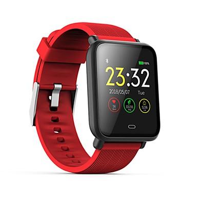 الرياضة للماء q9 smartwatch لالروبوت ios بلوتوث رصد معدل ضربات القلب قياس ضغط الدم شاشة تعمل باللمس السعرات الحرارية حرق تمرين عداد الخطى سجل توقيت