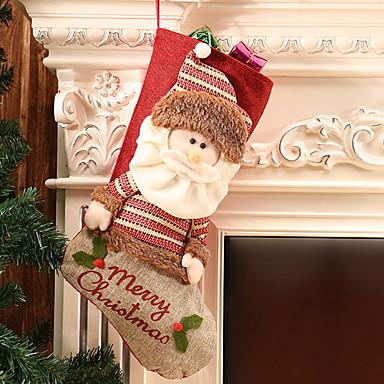 جوارب / عيد الميلاد الحلي عطلة نسيج القطن مربع حداثة زينة عيد الميلاد