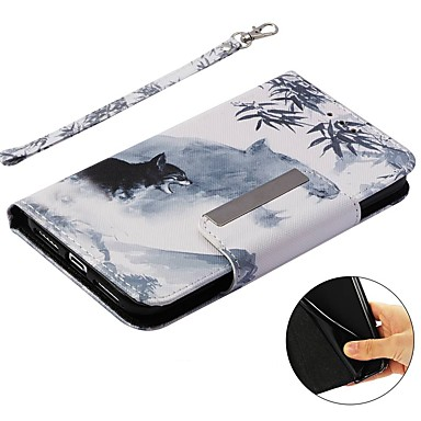 Custodia X portafoglio Animali Plus carte sintetica per iPhone 8 Apple X credito A 8 Resistente Integrale 06878348 iPhone supporto pelle iPhone iPhone Porta 8 Con Per iPhone di Plus rwBxAnarq
