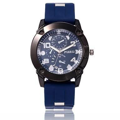 رجالي ساعة عسكرية ساعة المعصم كوارتز جلد اصطناعي أسود / أزرق / أخضر ساعة كاجوال مماثل كاجوال موضة - أسود أخضر أزرق سنة واحدة عمر البطارية