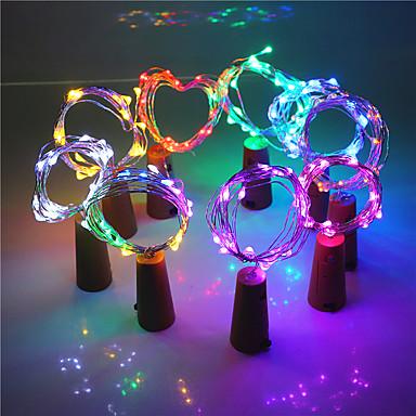 2m Fâșii De Becuri LEd Flexibile 20 LED-uri EL Alb Cald / Alb / Roz Creative / Decorativ / Cool 3 V 1set / IP44