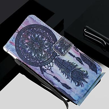 Недорогие Чехлы и кейсы для Galaxy S4 Mini-Кейс для Назначение SSamsung Galaxy S8 Plus / S8 / S7 edge Кошелек / Бумажник для карт / со стендом Чехол Ловец снов Твердый Кожа PU