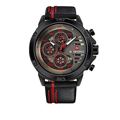 f38aa3d33 abordables Relojes de Hombre-NAVIFORCE Hombre Reloj Deportivo Reloj de  Pulsera Japonés Cuarzo Japonés Cuero