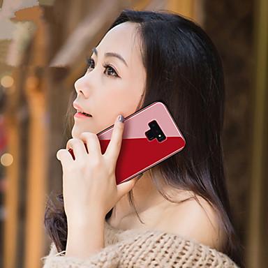 غطاء من أجل Samsung Galaxy Note 9 / Note 8 مرآة غطاء خلفي لون سادة قاسي زجاج مقوى