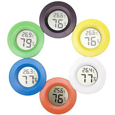 مصغرة الرقمية ميزان الحرارة الالكترونية الرطوبة جولة الرطوبة متر فاحص لحوض الثلاجة الثلاجة