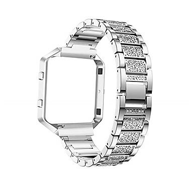 حزام إلى Fitbit Blaze فيتبيت عصابة الرياضة / تصميم المجوهرات ستانلس ستيل / خزفي شريط المعصم