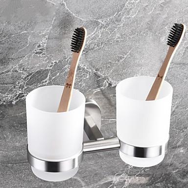 حاملة فرشاة الأسنان تصميم جديد / كوول معاصر الفولاذ المقاوم للصدأ / الحديد 1PC - حمام الفندق فرشاة الأسنان وملحقاتها مثبت على الحائط