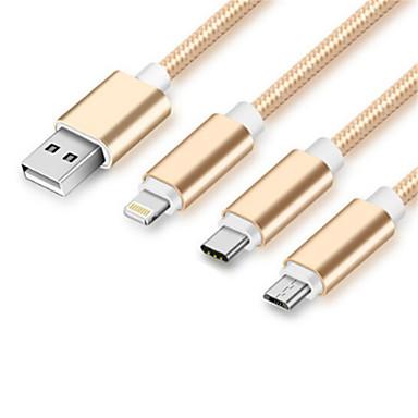 halpa Kaapelit ja adapterit-C-tyypin Kaapeli 1m-1.99m / 3ft-6ft Korkea nopeus / pikalataus Nylon USB-kaapelisovitin Käyttötarkoitus Huawei