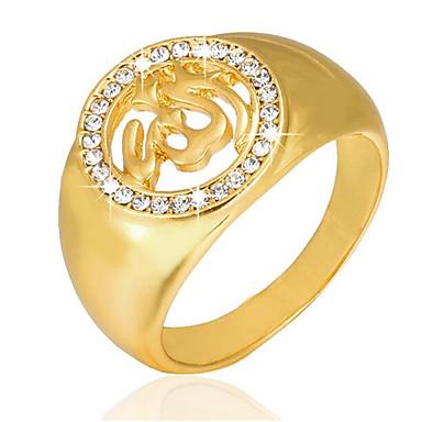 رجالي عصابة الفرقة خاتم الخاتم 1PC ذهبي مطلية بالذهب عيار 18 مطلية بالذهب سبيكة Geometric Shape مربع تصميم فريد عتيق زفاف مناسب للبس اليومي مجوهرات فينتاج 3D صليب خلاق كوول
