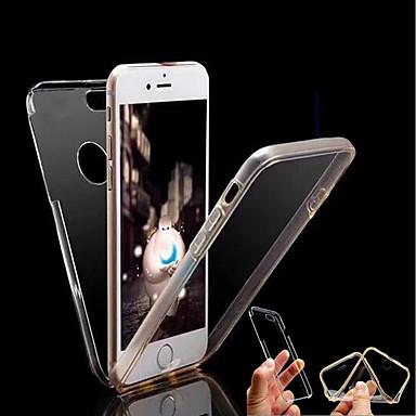 voordelige iPhone 5 hoesjes-hoesje Voor Apple iPhone X / iPhone 8 Plus / iPhone 8 Transparant Volledig hoesje Effen Hard TPU