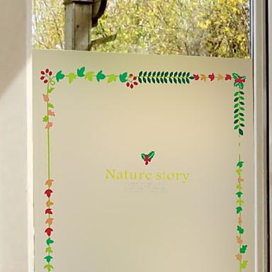 فيلم نافذة وملصقات زخرفة الطبيعة هندسي PVC كوول