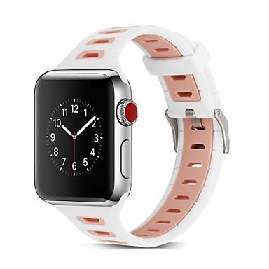 levne Pánské-Silikon Watch kapela Popruh pro Apple Watch Series 4/3/2/1 Černá / Zelená 23cm / 9 palce 2.1cm / 0.83 palce