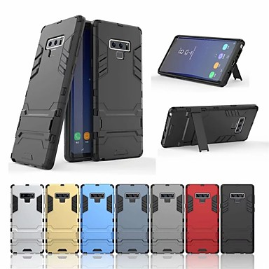 voordelige Galaxy Note 5 Hoesjes / covers-hoesje Voor Samsung Galaxy Note 9 / Note 8 / Note 5 Schokbestendig / met standaard Achterkant Schild Hard PC