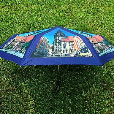 ستانلس ستيل الجميع مشمس وممطر / تصميم جديد مظلة ملطية