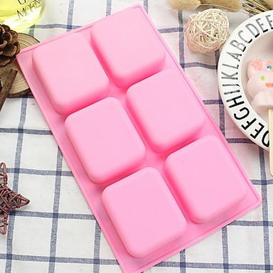 1PC هلام السيليكون تصميم جديد كعكة مربع قوالب الكيك أدوات خبز