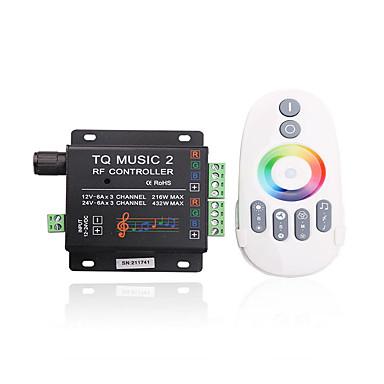 4a 3-canal LED-uri RGB inteligent controler ir de muzică cu telecomanda multifuncțional pentru LED-uri RGB lampă benzi (dc 12v-24v)