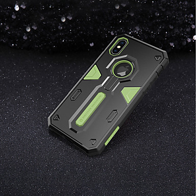 Недорогие Кейсы для iPhone-Nillkin Кейс для Назначение Apple iPhone X / iPhone XS Защита от удара Кейс на заднюю панель броня Твердый ПК для iPhone XS / iPhone X