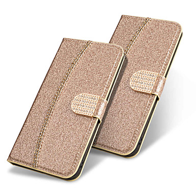 Case For Apple iPhone XR / iPhone XS Max Wallet / Card Holder / Flip Full Body Cases Solid Colored / Glitter Shine Hard PU Leather for iPhone XS / iPhone XR / iPhone XS Max
