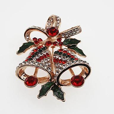 billige Damesmykker-Dame Nåler Klassisk Klokke damer Enkel Klassisk Strass Brosje Smykker Gull Sølv Til Jul
