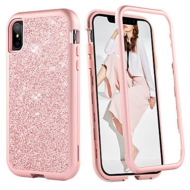 Недорогие Кейсы для iPhone-BENTOBEN Кейс для Назначение Apple iPhone XR / iPhone XS Max Защита от удара Чехол Однотонный / Сияние и блеск Твердый ТПУ / ПК для iPhone XS / iPhone XR / iPhone XS Max