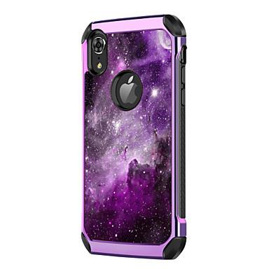 Недорогие Кейсы для iPhone-BENTOBEN Кейс для Назначение Apple iPhone XR / iPhone XS Max Защита от удара / Покрытие / С узором Кейс на заднюю панель Пейзаж / Градиент цвета Твердый Кожа PU / ПК для iPhone XR / iPhone XS Max