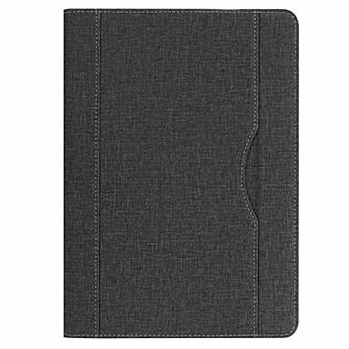 غطاء من أجل Apple iPad Air مع حامل غطاء كامل للجسم لون سادة قاسي جلد PU