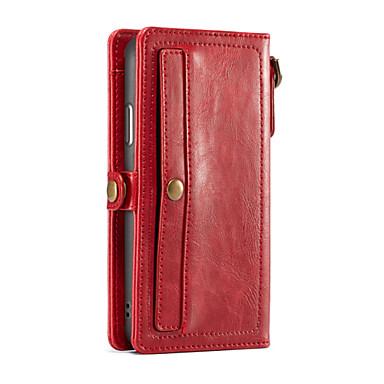Недорогие Кейсы для iPhone-CaseMe Кейс для Назначение Apple iPhone X Кошелек / Бумажник для карт Чехол Однотонный Твердый Кожа PU для iPhone X / iPhone 8 Pluss / iPhone 8