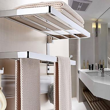 قضيب المنشفة متعدد الطبقات / تصميم جديد معاصر الفولاذ المقاوم للصدأ / الحديد 1PC مزدوج مثبت على الحائط